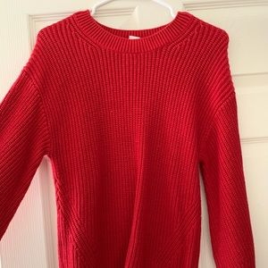 Red knit sweater Gap